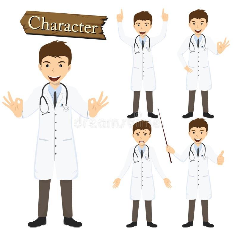 Doktorski charakter - ustalona wektorowa ilustracja ilustracja wektor
