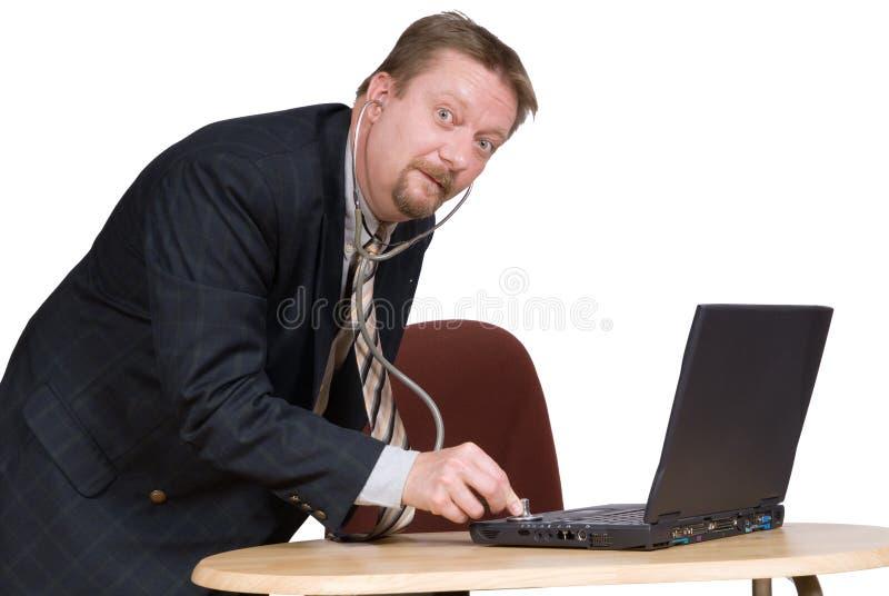 doktorski komputer osobisty obraz stock