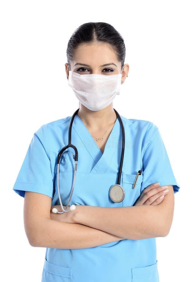 Doktorski, pielęgniarka portret/ zdjęcia royalty free