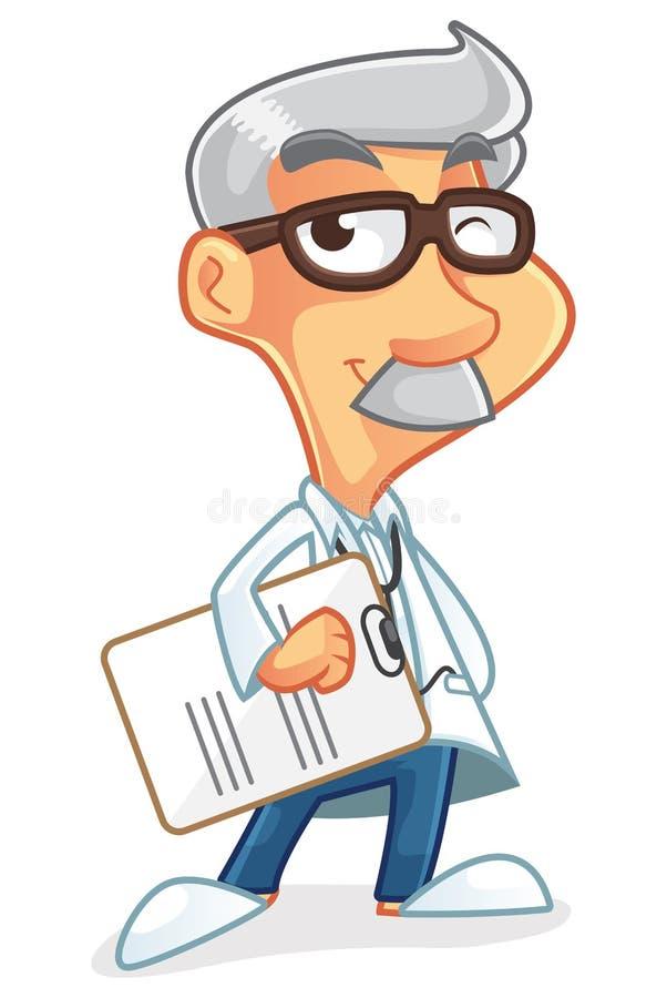 Doktorski postać z kreskówki fotografia royalty free