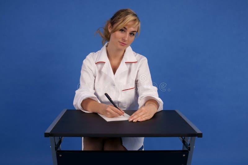 doktorski recepturowy godny zaufania writing obrazy stock