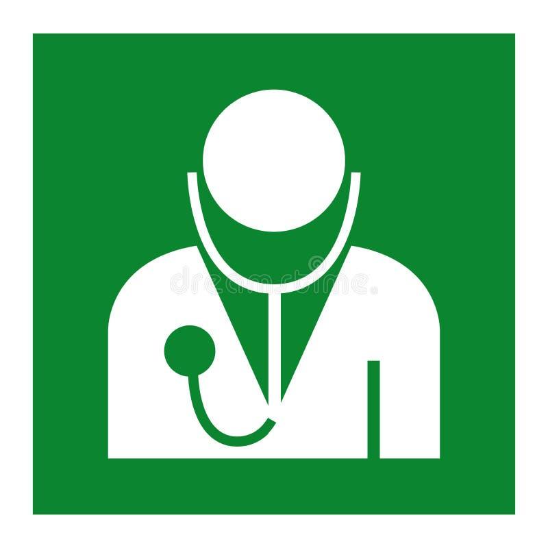 Doktorski symbolu znak Odizolowywa Na Białym tle, Wektorowa ilustracja EPS 10 ilustracja wektor