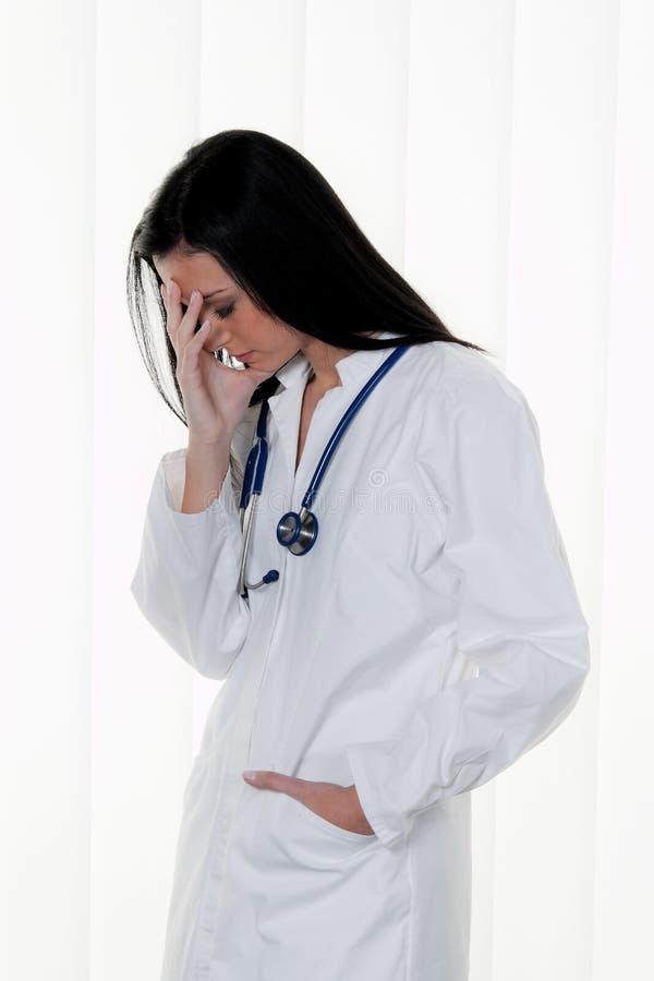doktorski szpital przeciążający stres obraz stock