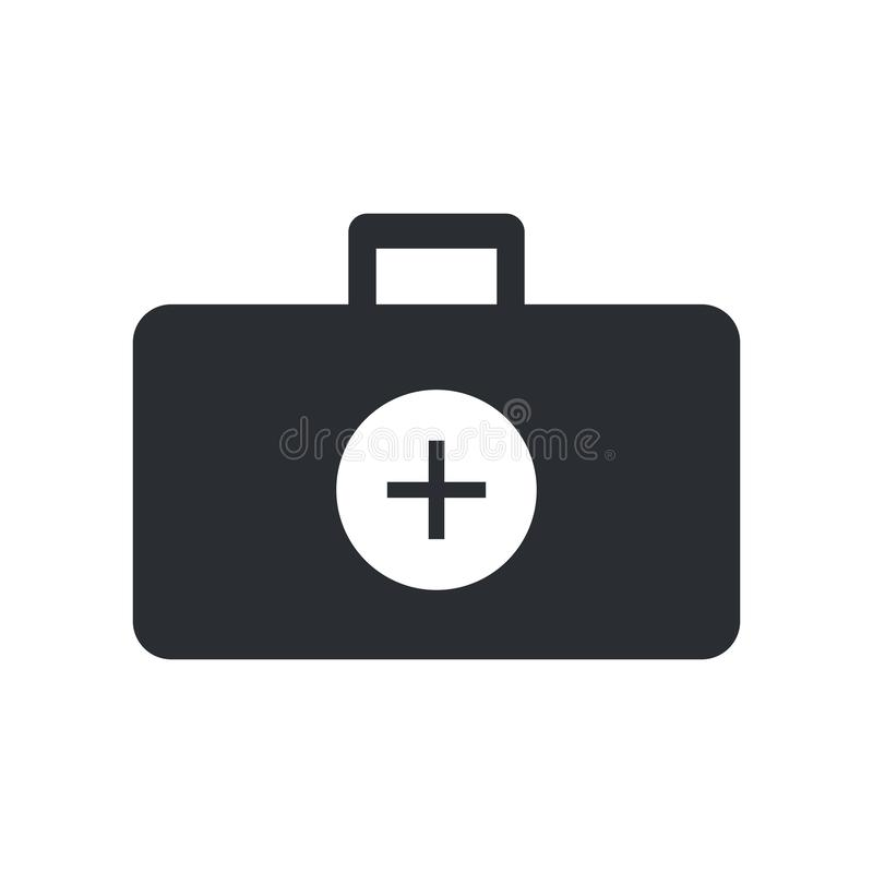 Doktorski teczki ikony wektoru znak i symbol odizolowywający na białym tle, Doktorski teczka logo pojęcie ilustracji