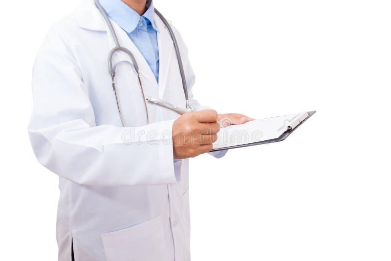 Doktorski writing medyczna recepta obraz royalty free