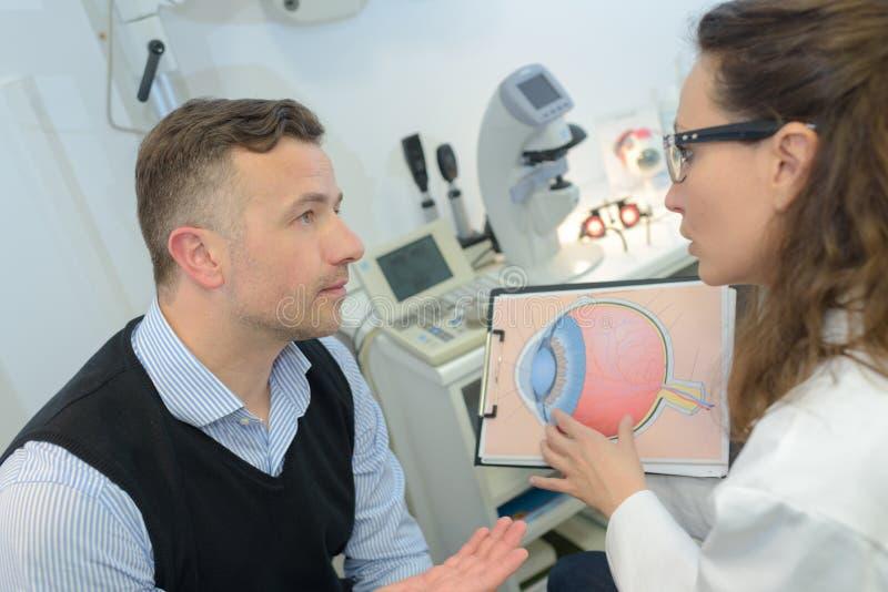 Doktorski wyjaśnia problem pacjent fotografia stock