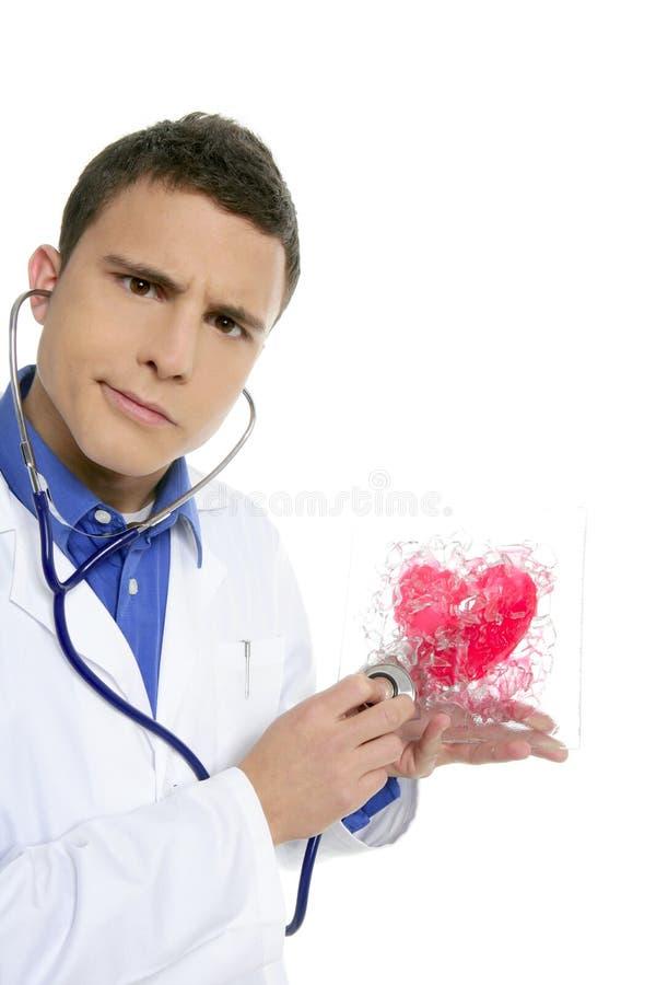 doktorskich zdrowie kierowi mężczyzna czerwieni testa potomstwa zdjęcie stock