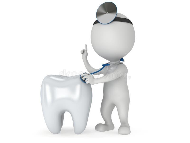 Doktorskiego checkup zdrowy ząb royalty ilustracja