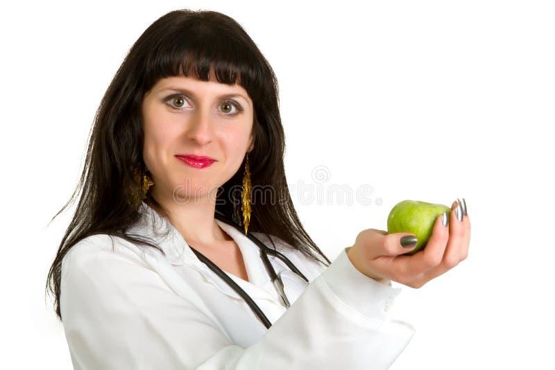 doktorskiej ostrości medyczna stetoskopu kobieta zdjęcia royalty free