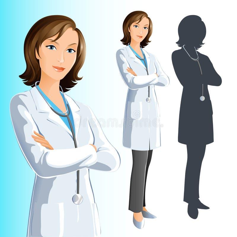 doktorskvinna royaltyfri illustrationer