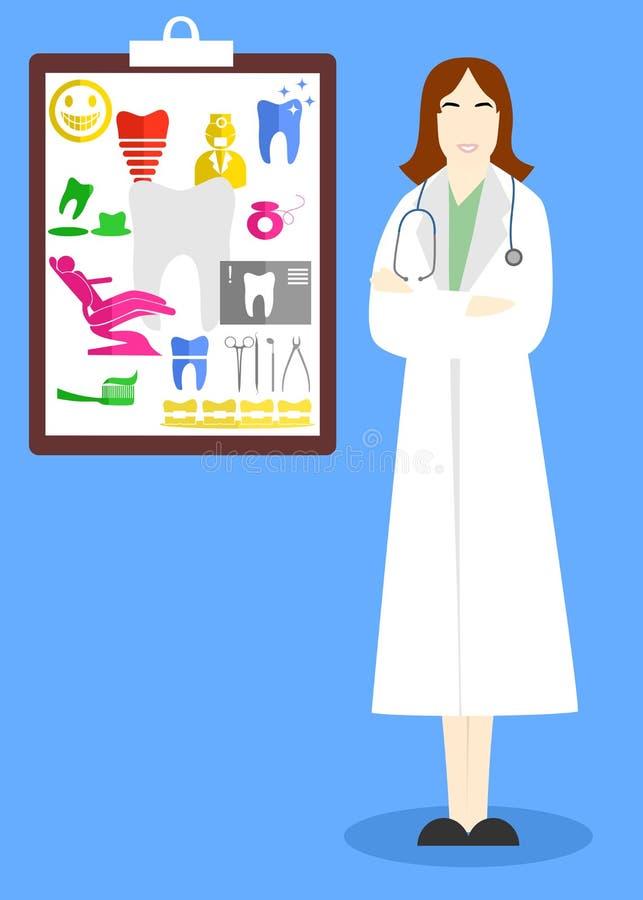 Doktorskvinnan stock illustrationer