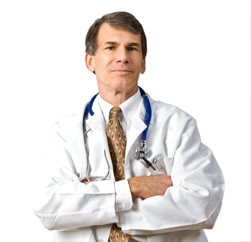doktorsläkarundersökningpensionär arkivbild
