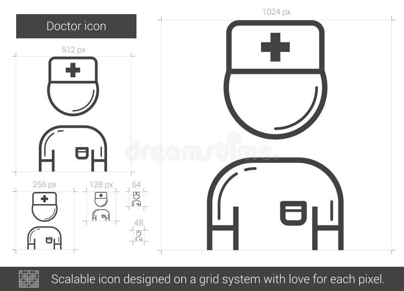 Doktorslinje symbol vektor illustrationer