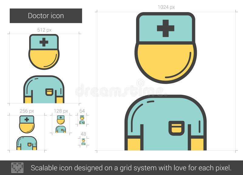 Doktorslinje symbol royaltyfri illustrationer