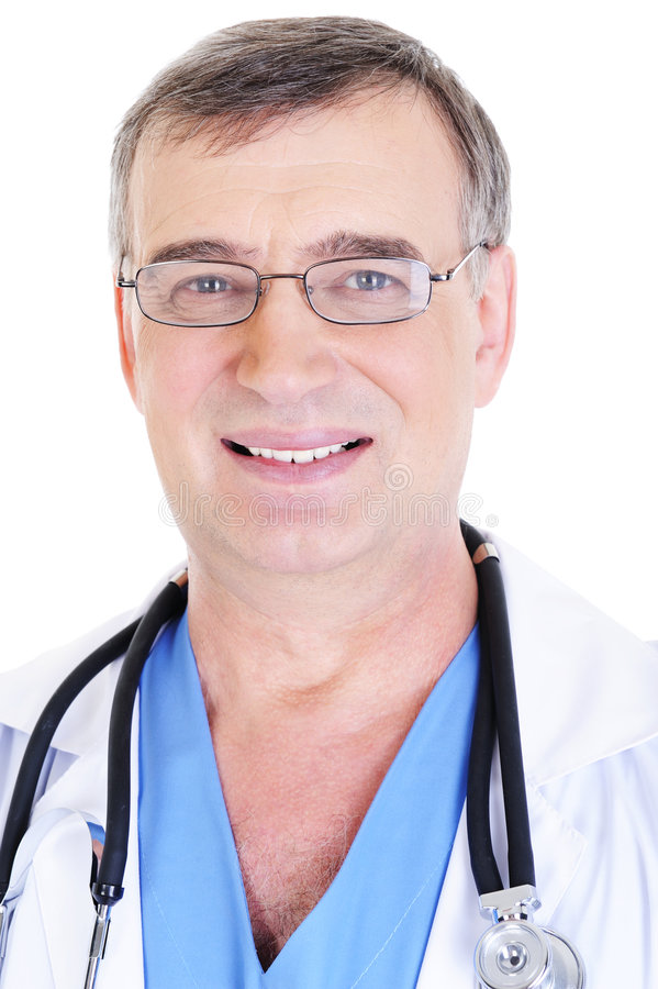 doktorsmanligpensionär arkivbilder