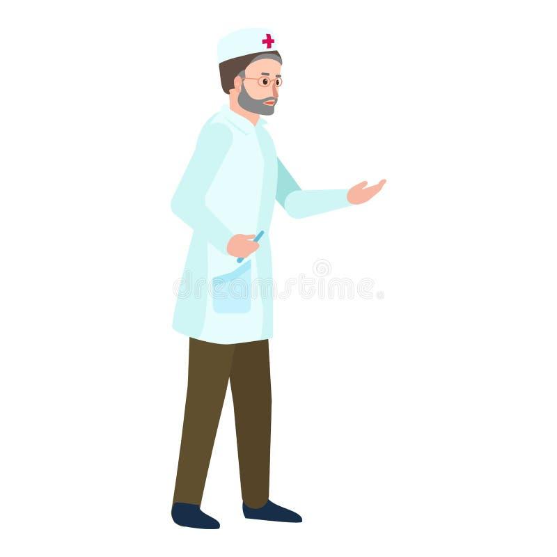Doktorsmansymbol, plan stil royaltyfri illustrationer