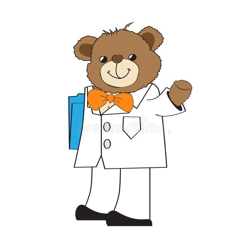 Doktorsnallebjörn vektor illustrationer