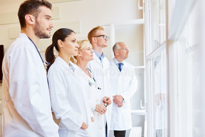 Doktorspezialist und -team lizenzfreies stockbild