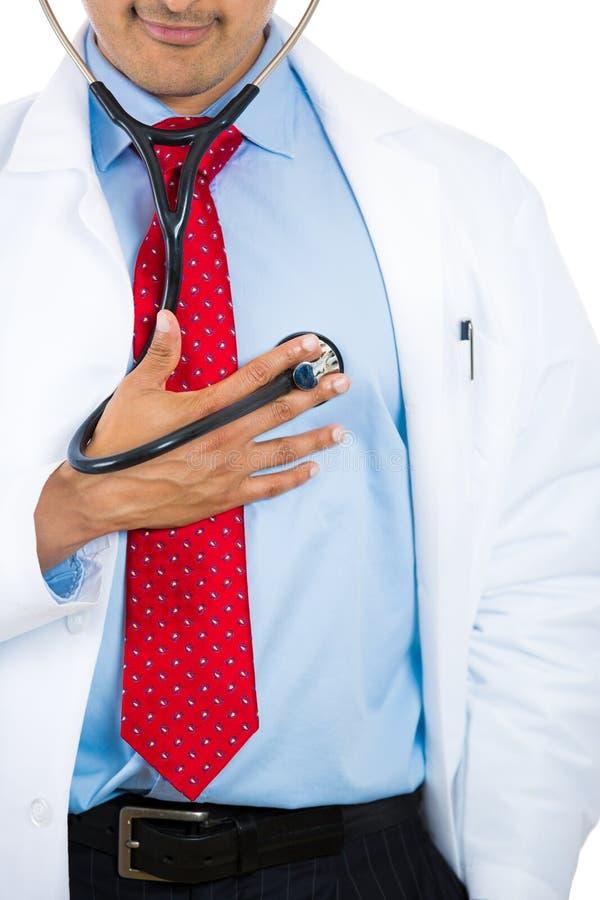 Doktorssjälvdiagnos arkivbilder