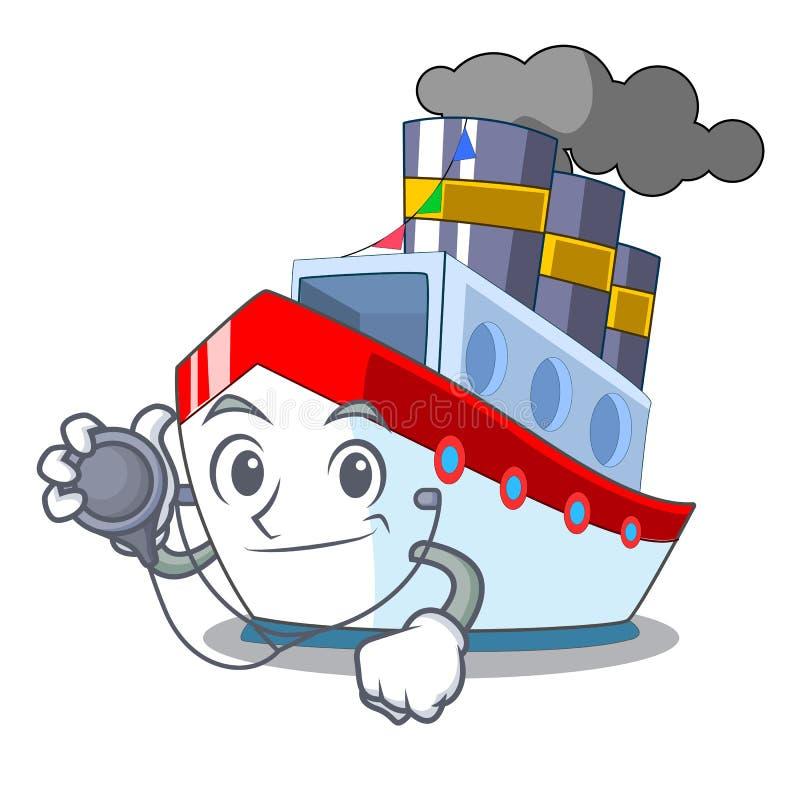 Doktorsskepp i trans.havmaskot vektor illustrationer