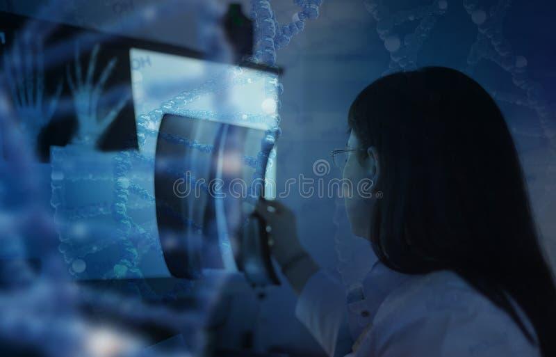 Doktorsstudie röntgenstrålen royaltyfri foto