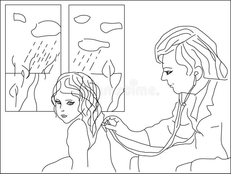 doktorze royalty ilustracja
