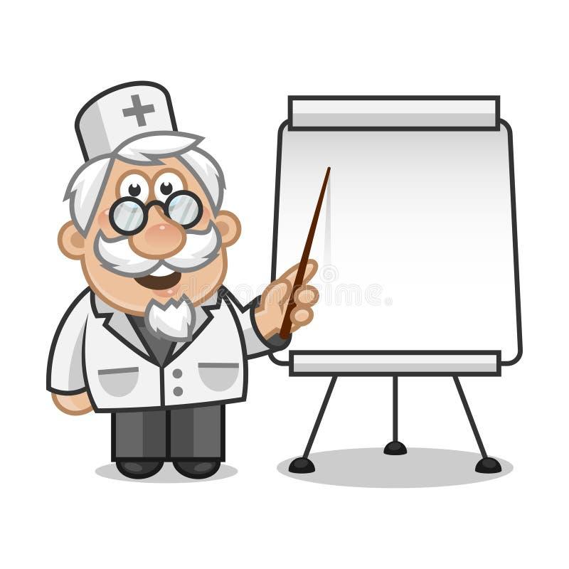 Download Doktror Points On A Flip Chart Stock Vector - Illustration of doctor, hospital: 31453332