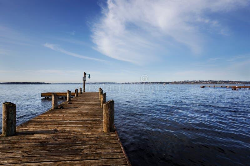 doku jezioro Washington fotografia royalty free