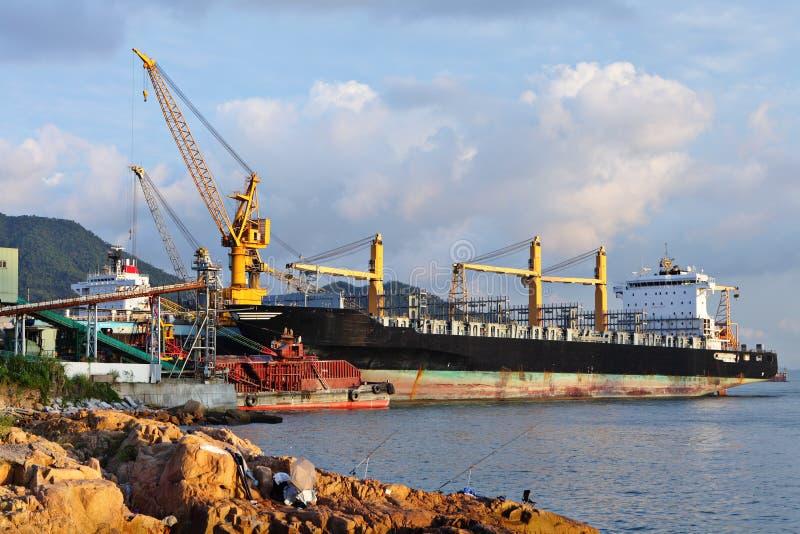 doku statku stocznia obraz stock