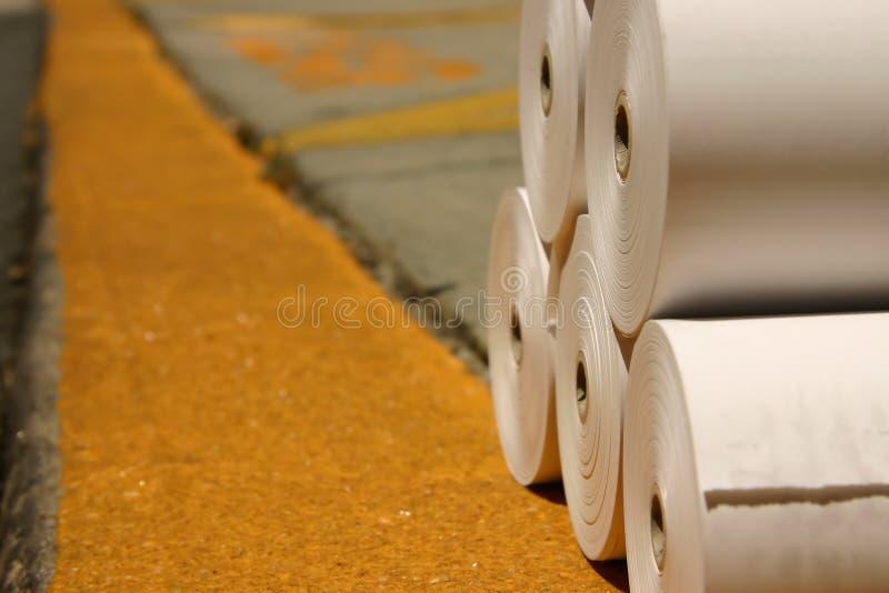 doku załadunku papieru odcisk potoczy się biały obrazy stock
