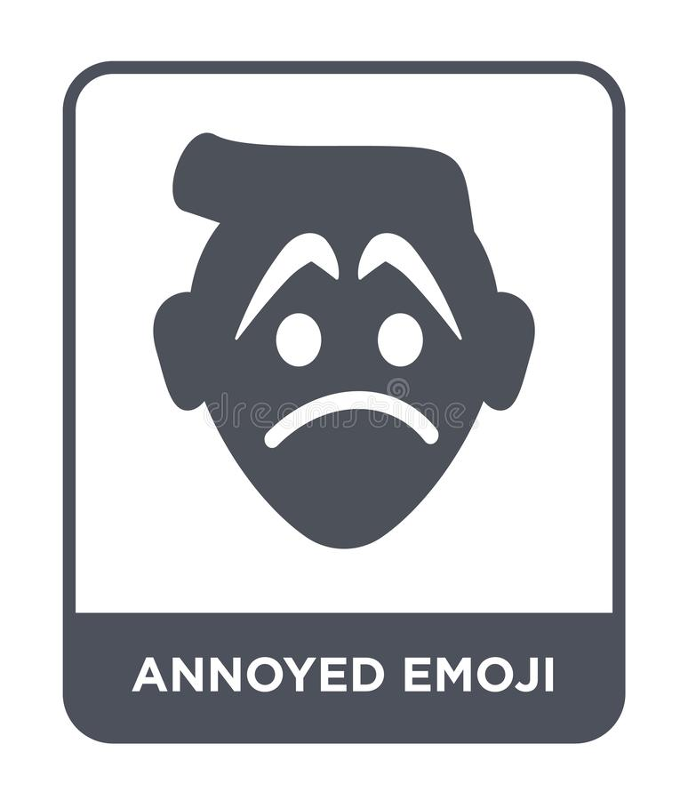 dokuczająca emoji ikona w modnym projekta stylu dokuczająca emoji ikona odizolowywająca na białym tle dokuczająca emoji wektorowa ilustracja wektor