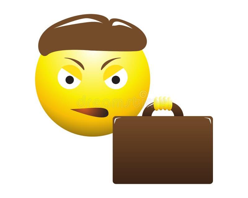 Dokuczający Biznesowego mężczyzna Emoticon ilustracji