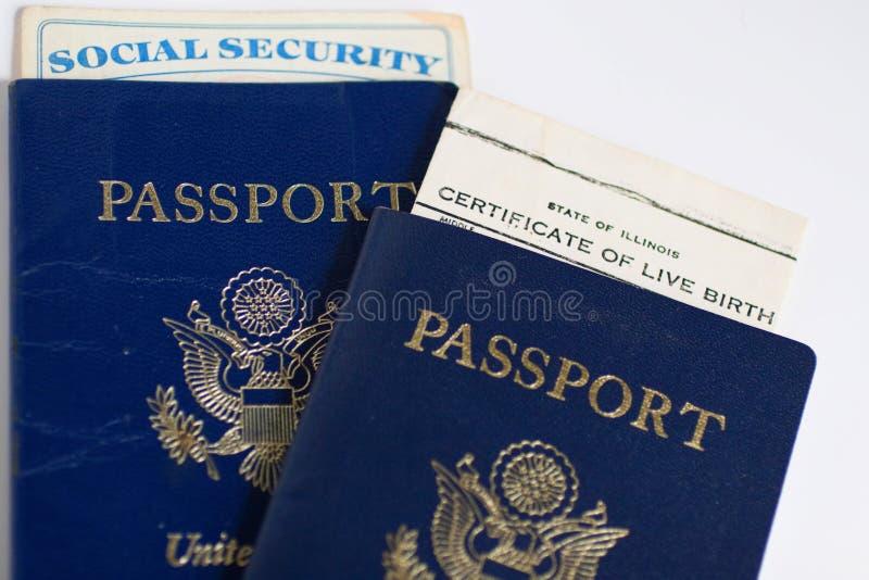 dokumentów podróży paszportu najważniejszym stanów obrazy royalty free
