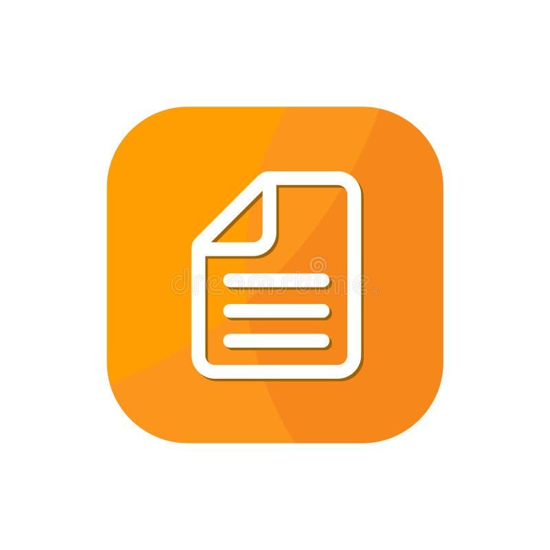 Dokument App royalty ilustracja