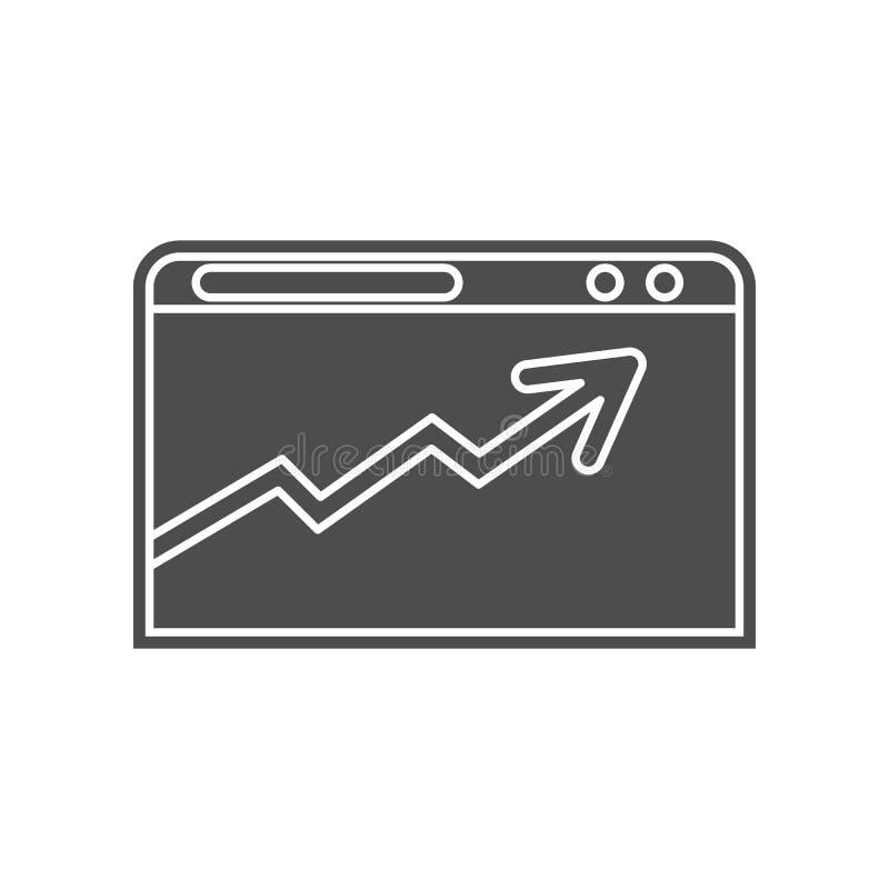 Dokument auf der Bildschirmikone Element von minimalistic f?r bewegliches Konzept und Netz Appsikone Glyph, flache Ikone f?r Webs vektor abbildung