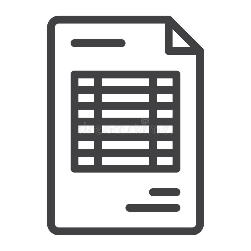 Dokument faktury linii ikona ilustracja wektor