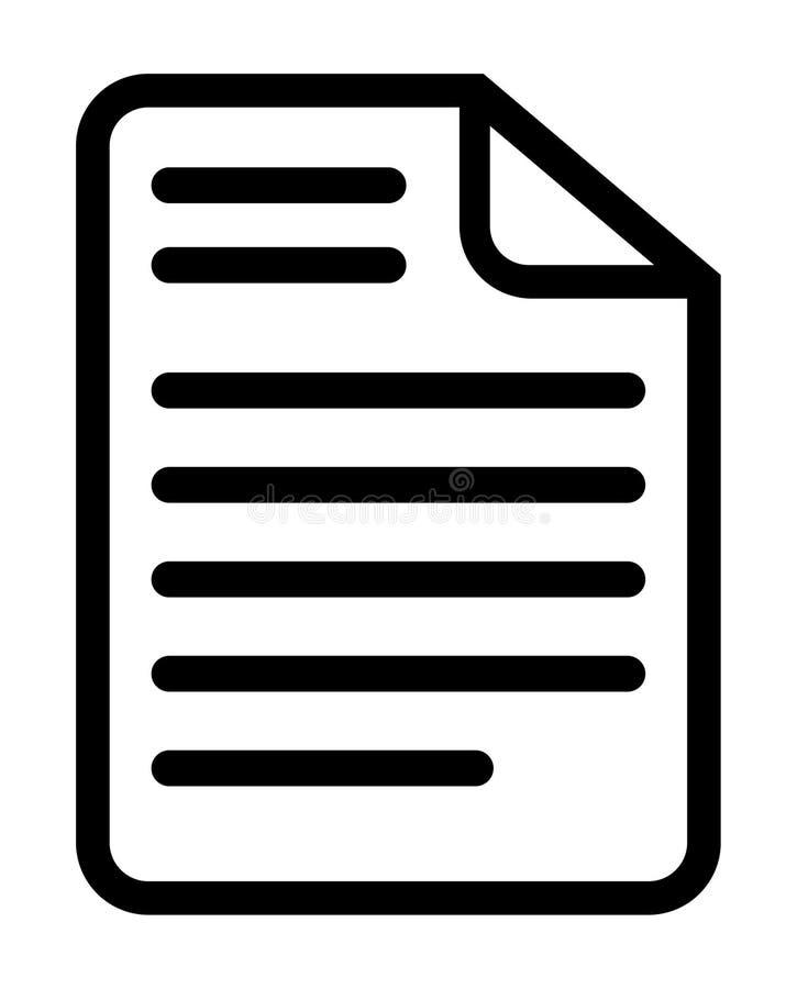 Dokument ikona ilustracja wektor. Ilustracja złożonej z ikona - 100736142