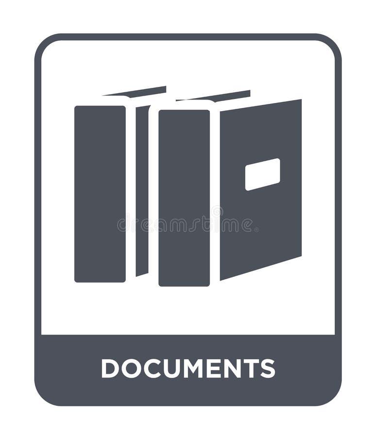 dokument ikona w modnym projekta stylu Dokument ikona odizolowywająca na białym tle dokument wektorowej ikony prosty i nowożytny  ilustracji