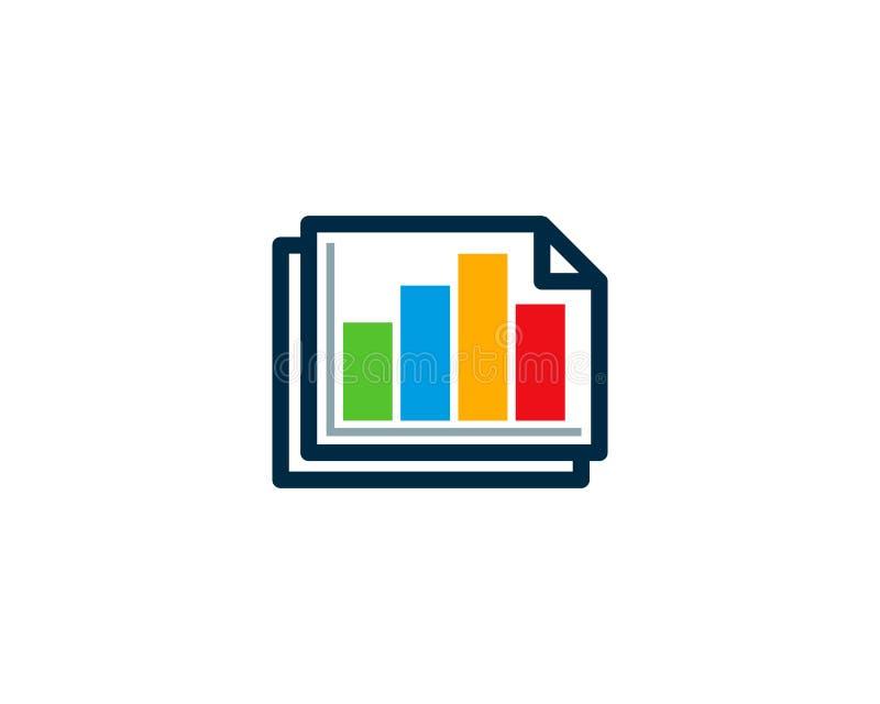 Dokument ikony loga projekta Statystyczny element ilustracji