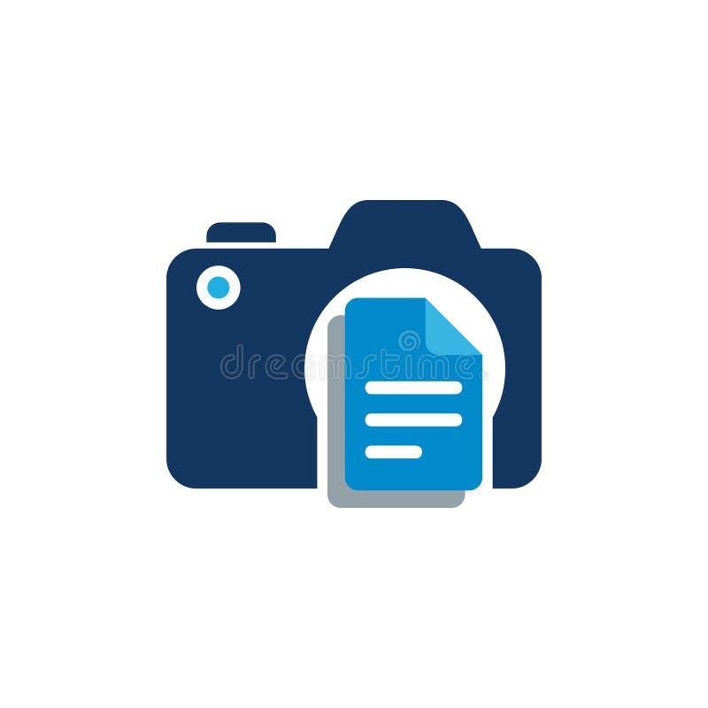 Dokument kamery loga ikony projekt ilustracji