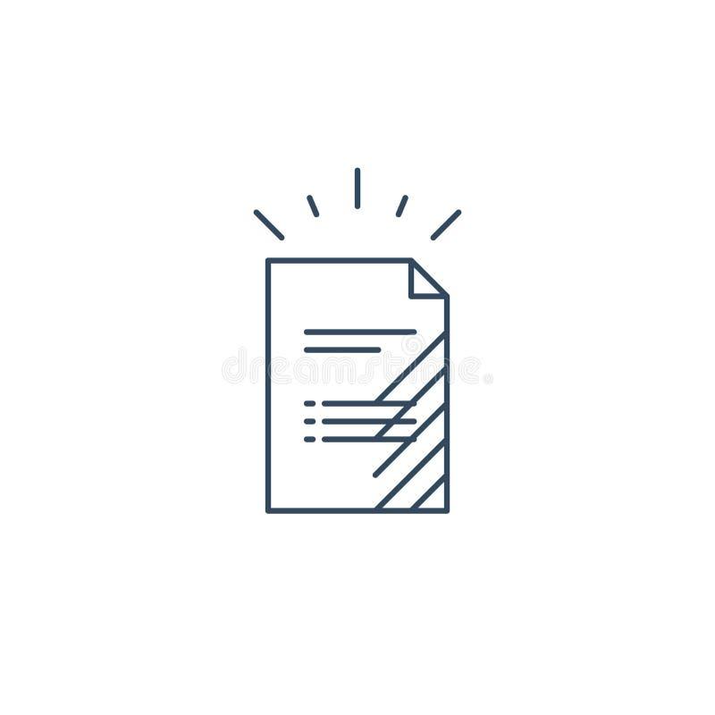 Dokument lista, podaniowej formy ikona ilustracji