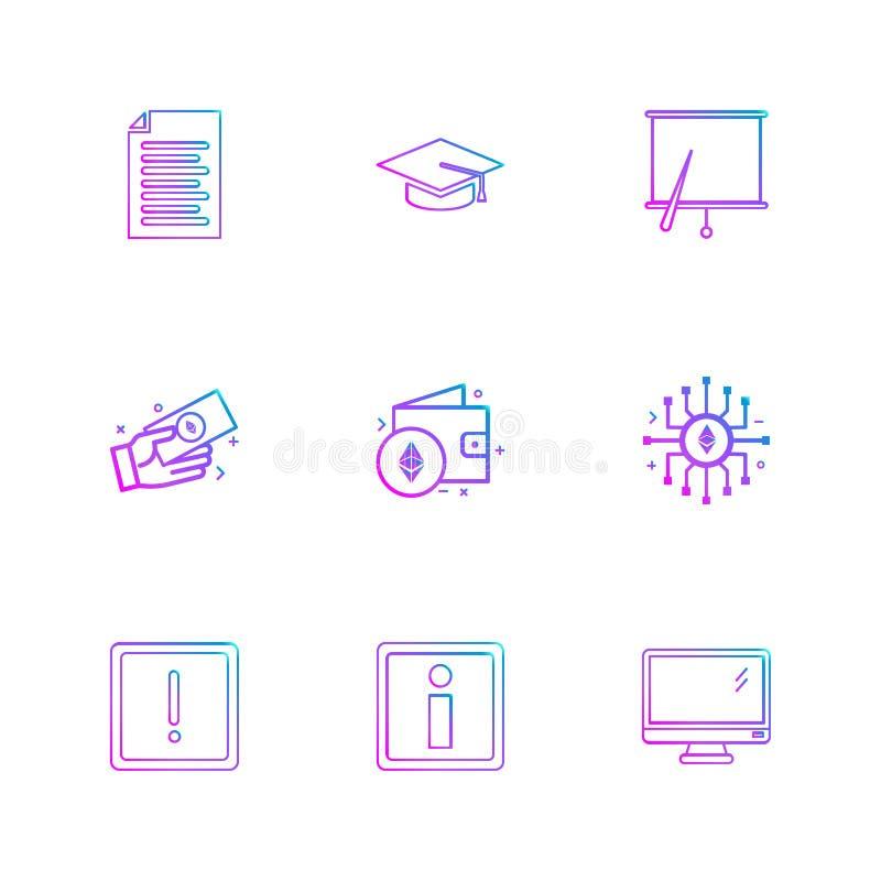 dokument mapp, sammankallandelock, bräde, diagram, bildskärm, ic royaltyfri illustrationer