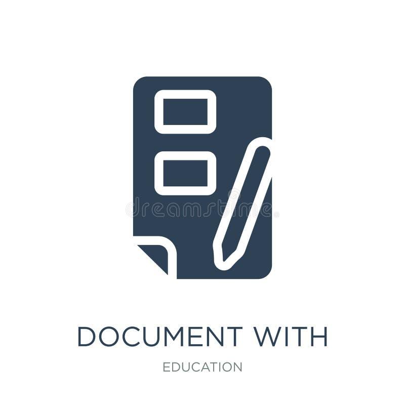 dokument med bild och den nöjda symbolen i moderiktig designstil dokument med bilden och den nöjda symbolen som isoleras på vit b vektor illustrationer