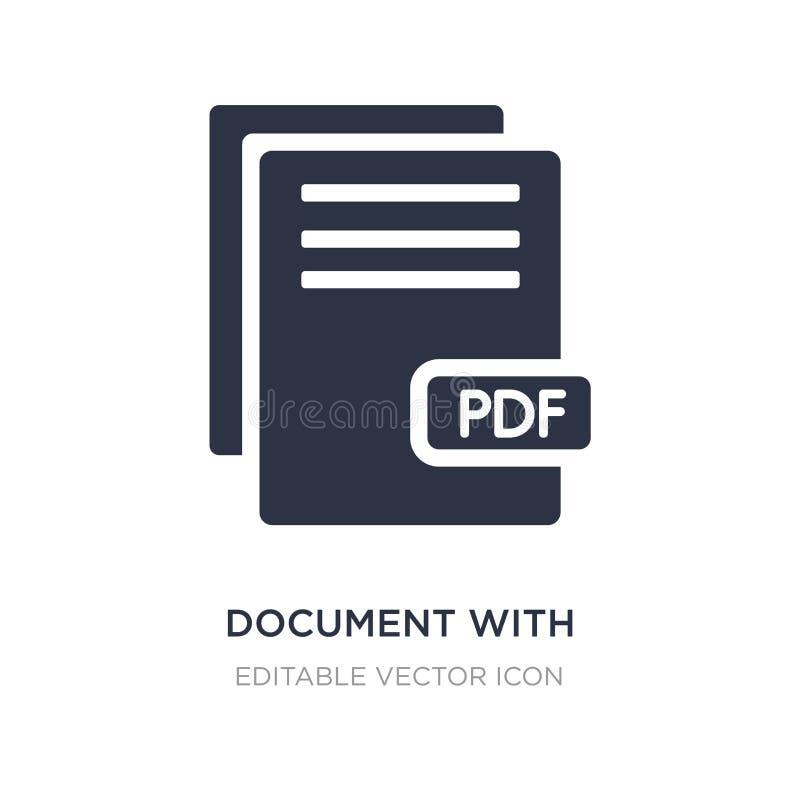 dokument med bild och den nöjda symbolen på vit bakgrund Enkel beståndsdelillustration från utbildningsbegrepp vektor illustrationer