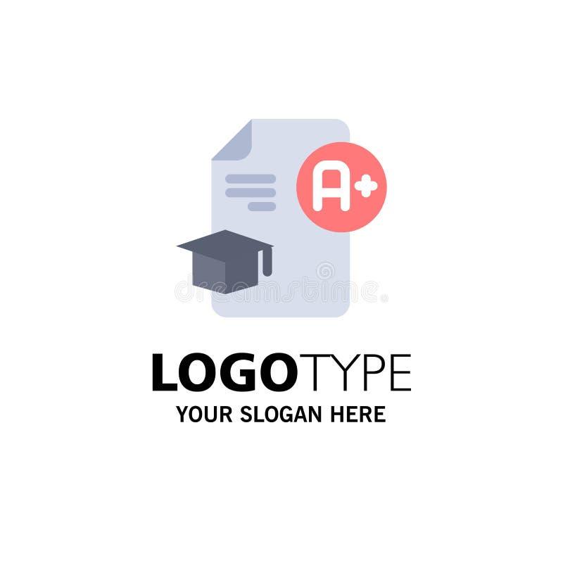 Dokument, nakrętka, edukacja, skalowanie, A+ logo Biznesowy szablon p?aski kolor ilustracji