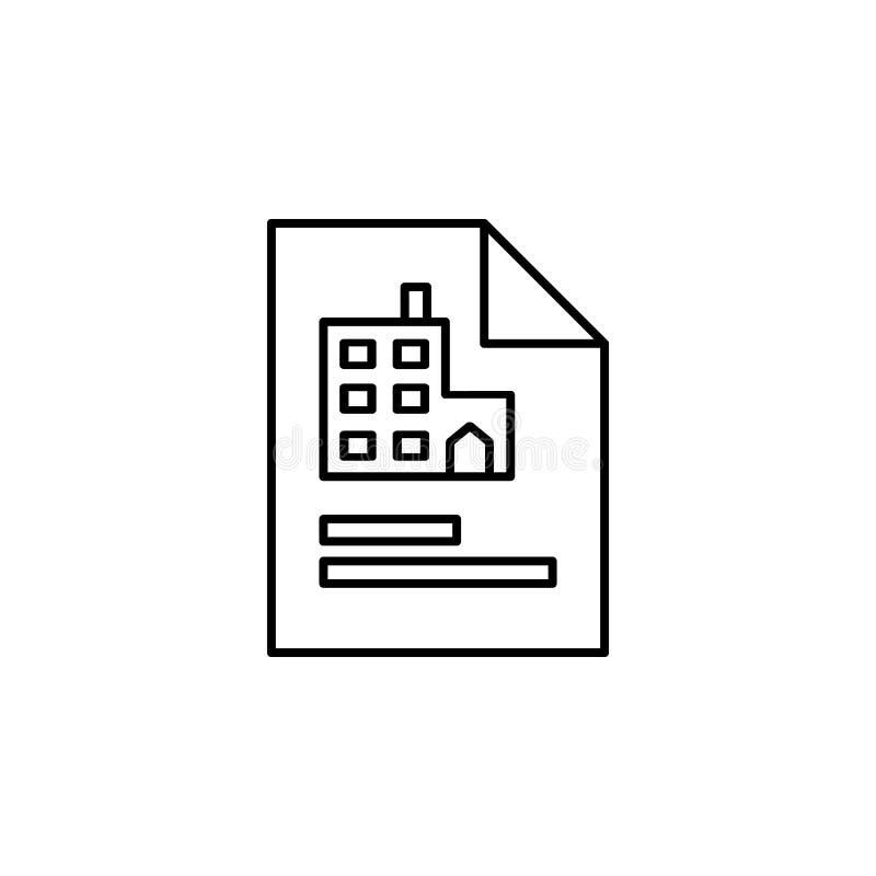 Dokument profil, kontorssymbol på vit bakgrund Kan användas för rengöringsduken, logoen, den mobila appen, UI, UX stock illustrationer