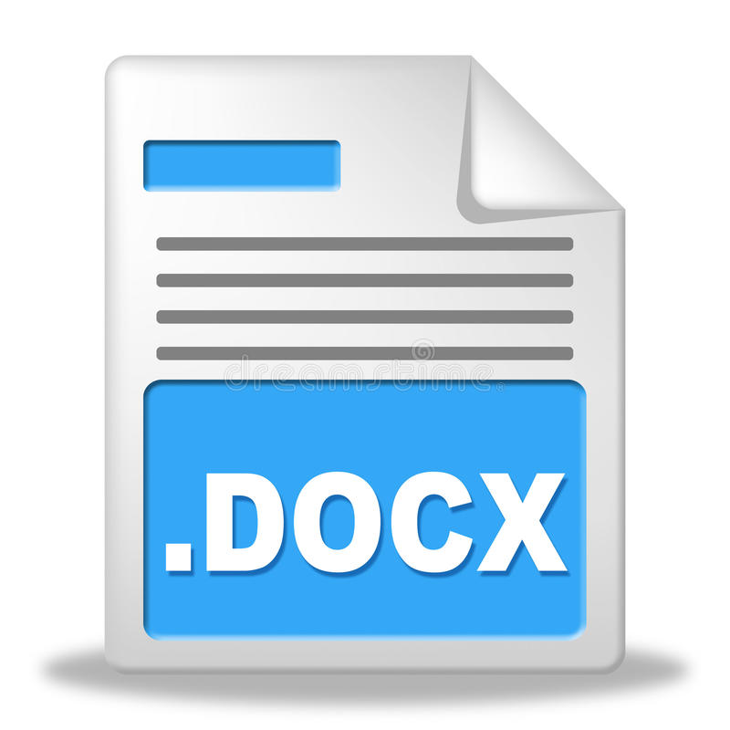 Dokument Reprezentuje rejestrów archiwa I dane royalty ilustracja