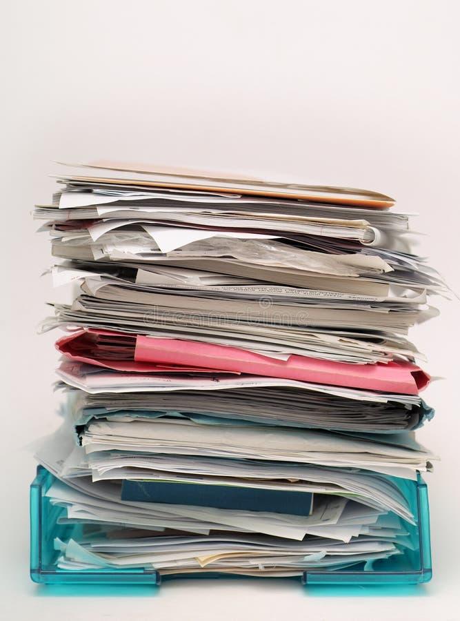 dokument skrzynkę plików papiery zdjęcie royalty free