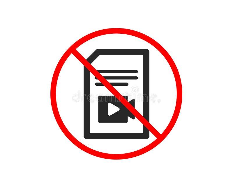 Dokument z Wideo ikon? Vlog kartoteki znak wektor royalty ilustracja