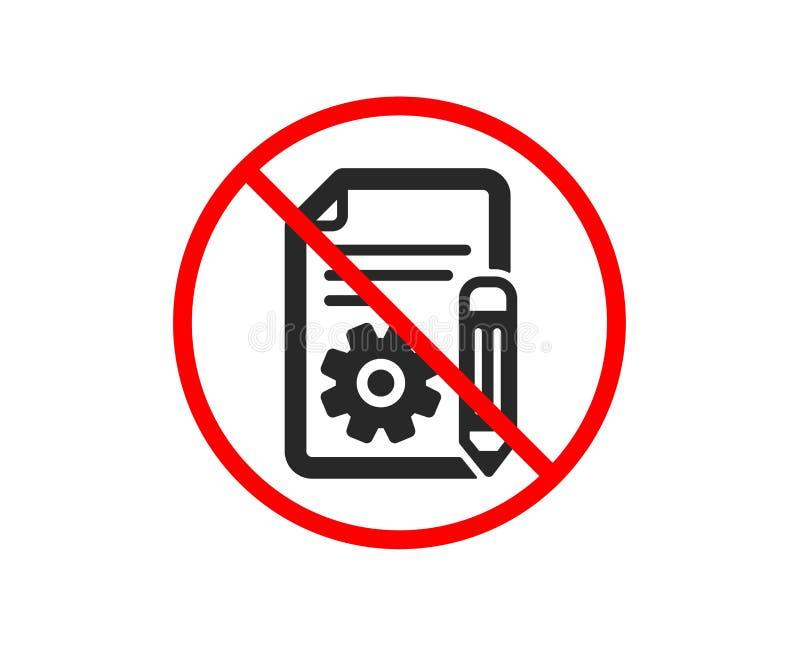 dokumentaci ikona Techniczny instrukcja znak wektor ilustracji